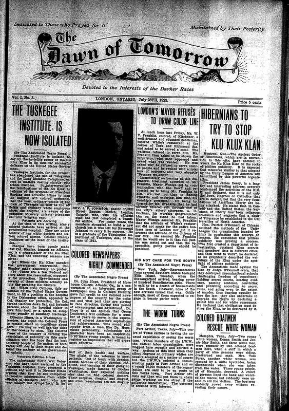 <em>The Dawn of Tomorrow</em>, 1923-07-28, vol. 1, no. 3