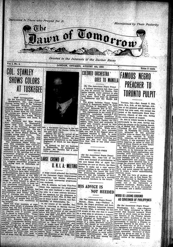 <em>The Dawn of Tomorrow</em>, 1923-08-04, vol. 1, no. 4