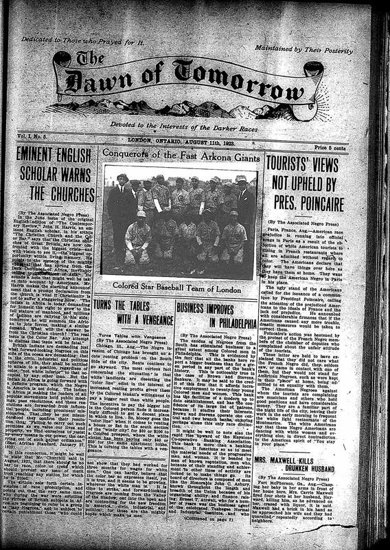 <em>The Dawn of Tomorrow</em>, 1923-08-11, vol. 1, no. 5