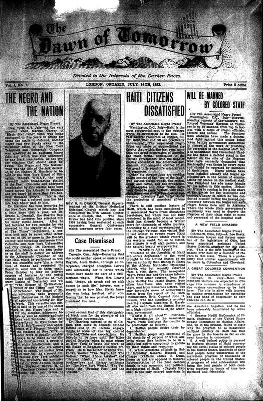 <em>The Dawn of Tomorrow</em>, 1923-07-14, vol. 1, no. 1
