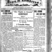 The Dawn of Tomorrow, 1924-01-19, vol. 1, no. 27