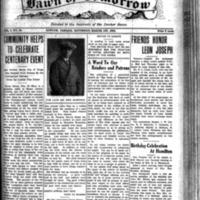 The Dawn of Tomorrow, 1924-03-01, vol. 1, no. 34