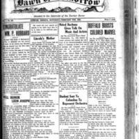 The Dawn of Tomorrow, 1924-02-09, vol. 1, no. 30